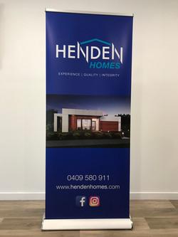 Henden Homes Retractable Banner