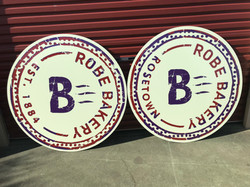 Robe Bakery Round Signs