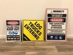 Merrett Logging Safety Signs