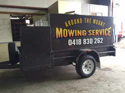 Around the Mount Mowing Trailer
