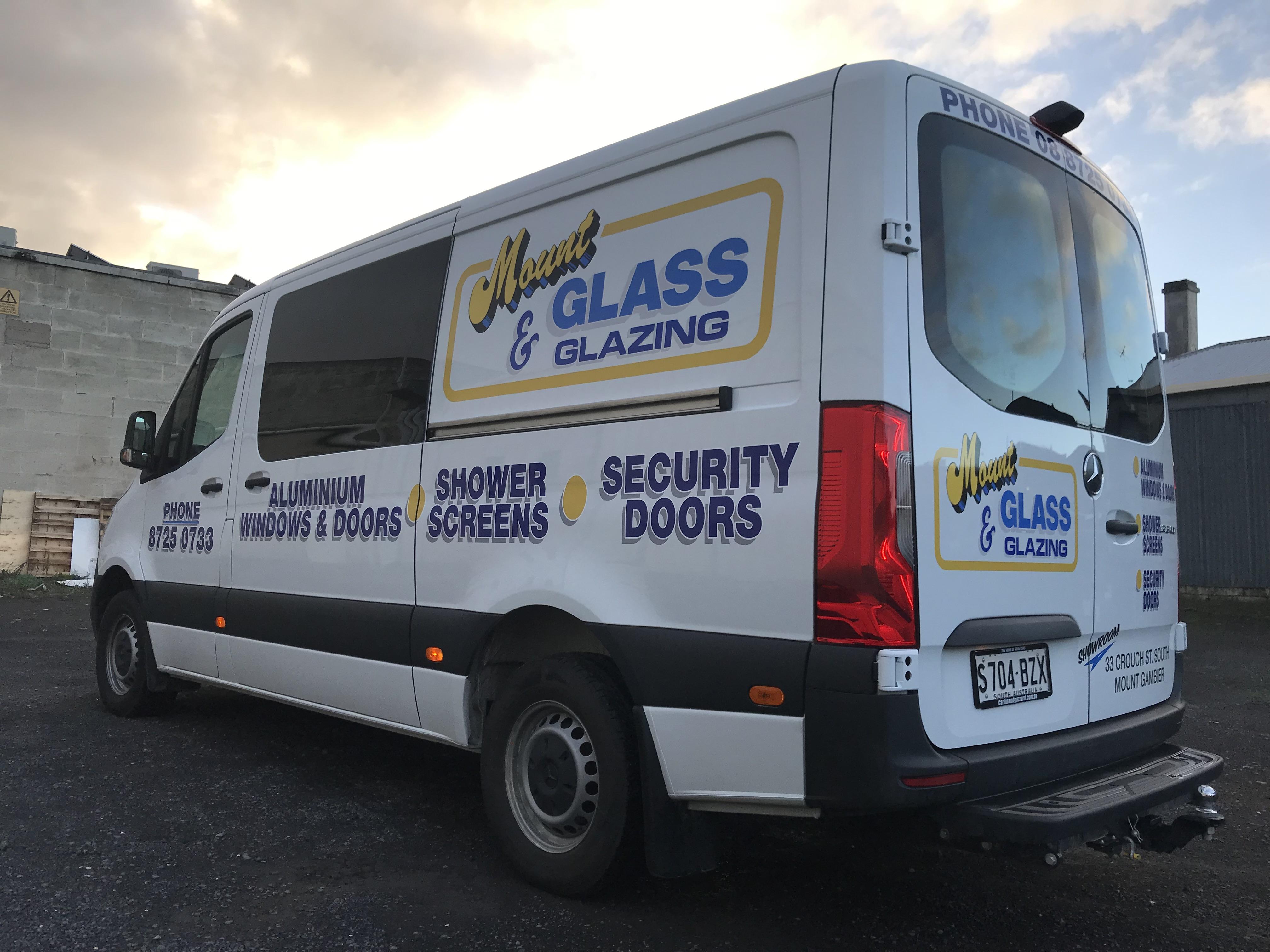 Mount Glass & Glazing Van Signage