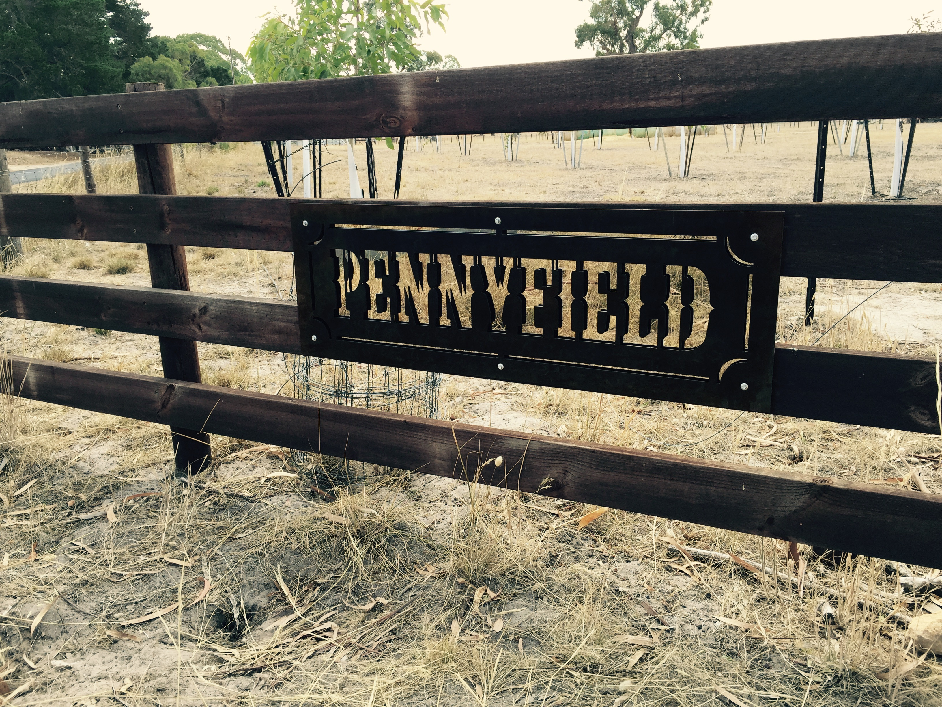 Pennyfield Laser Fence Cut Sign