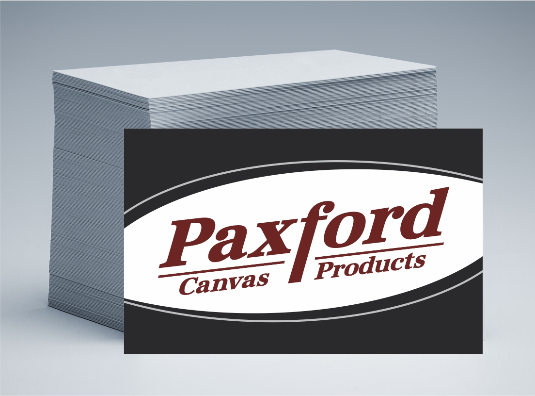 Paxfords Canvas Products Business Cards