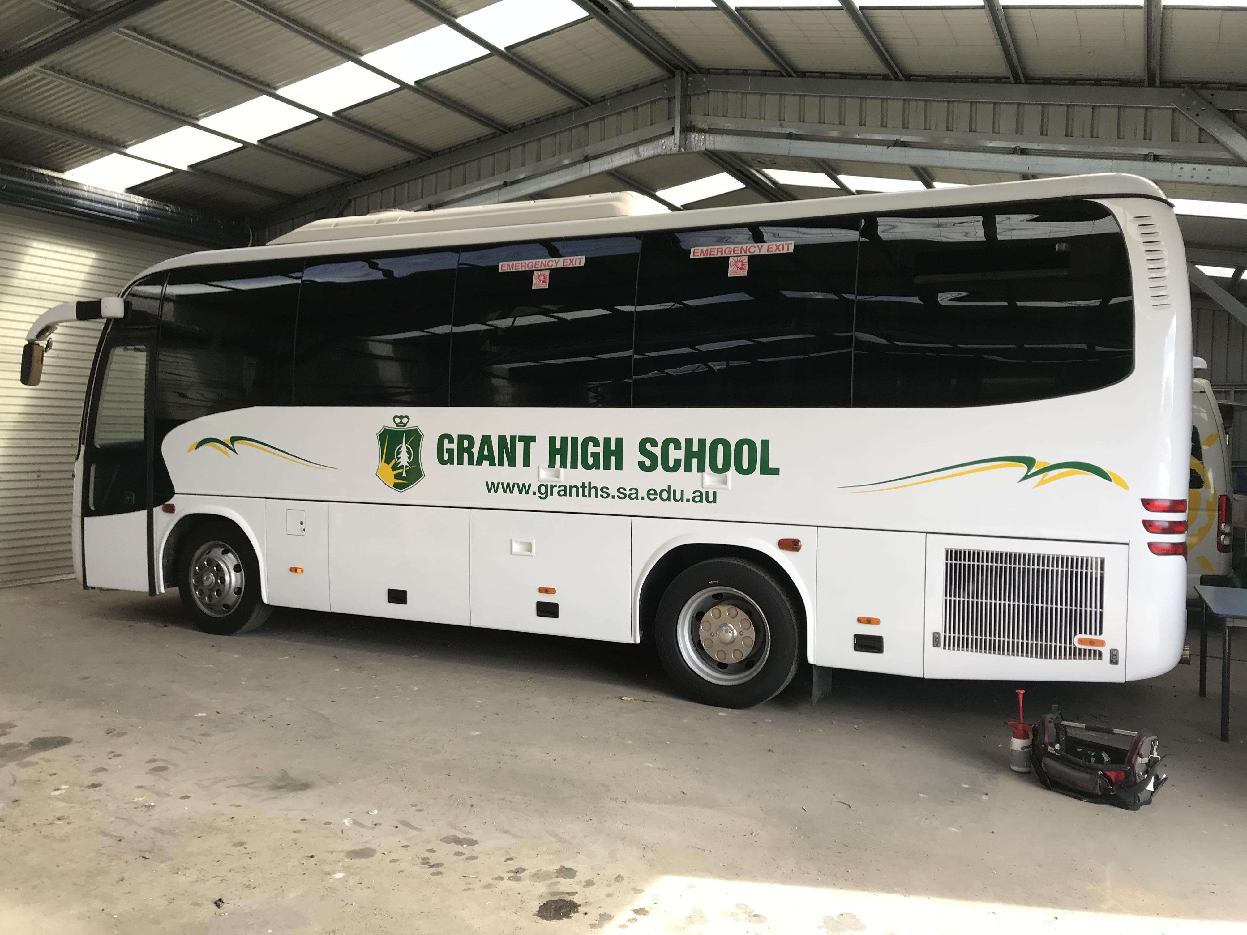 Grant High School Bus Side