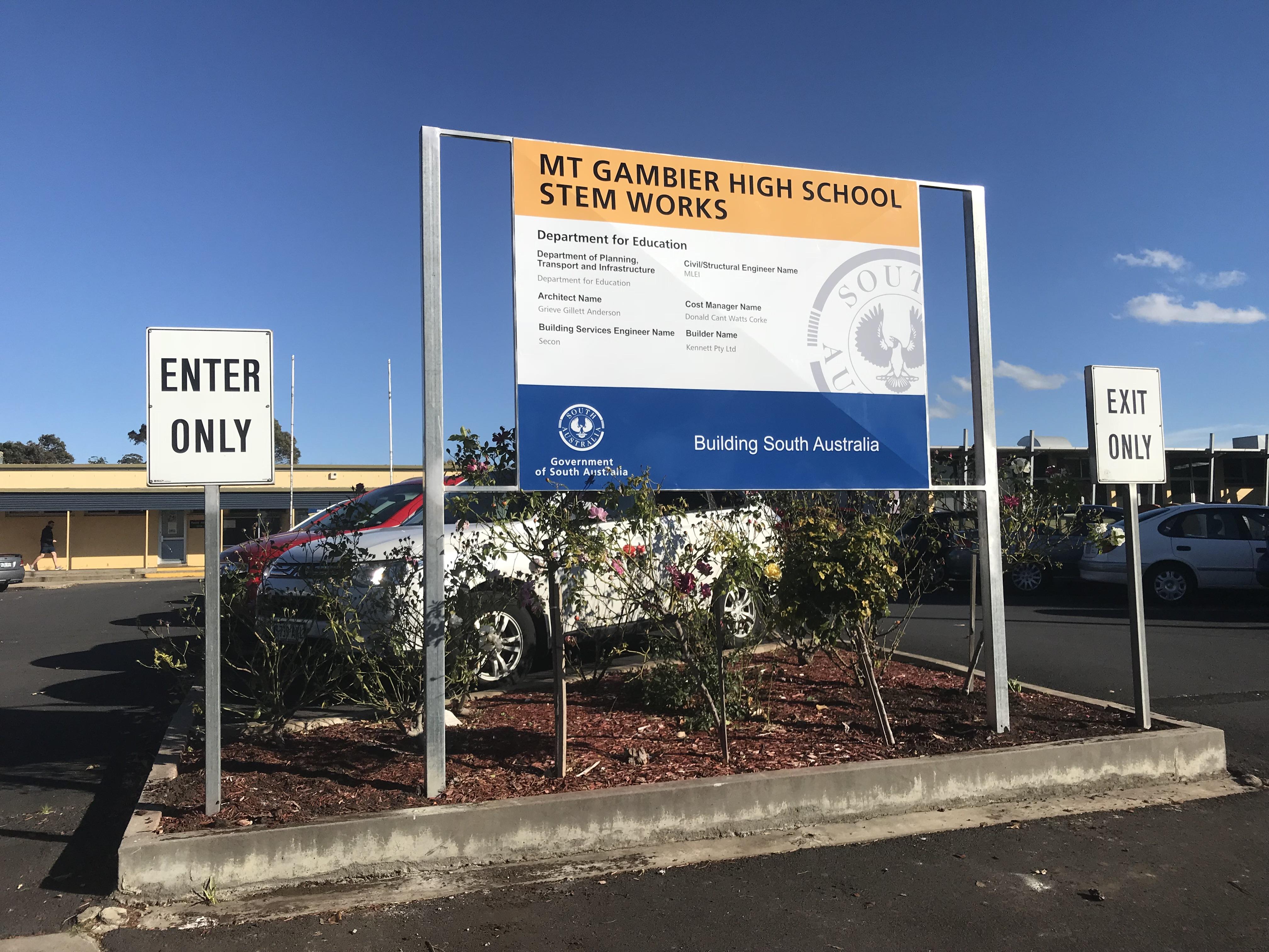 Mount Gambier High School STEM Signage