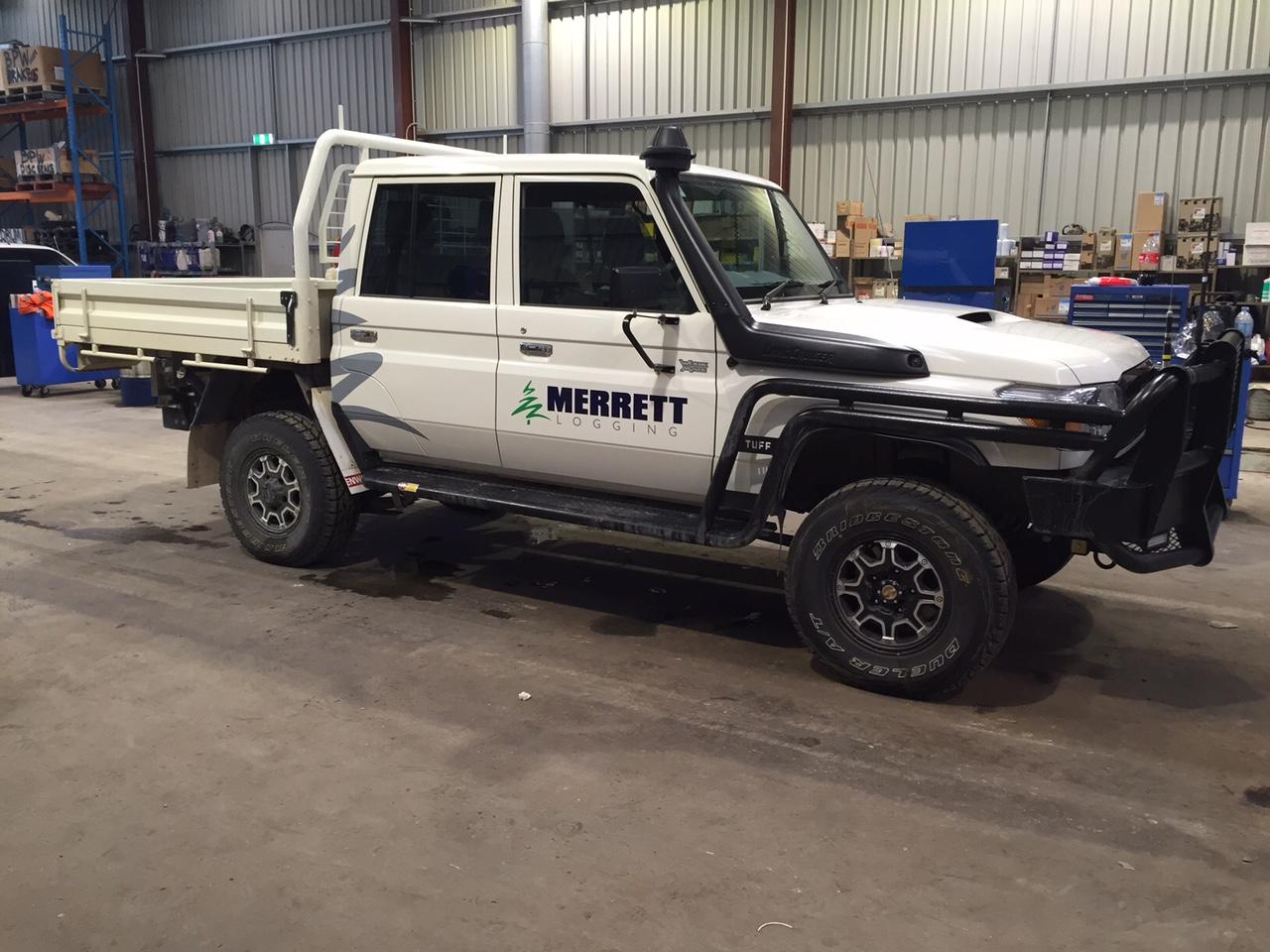Merrett Logging Vehicle