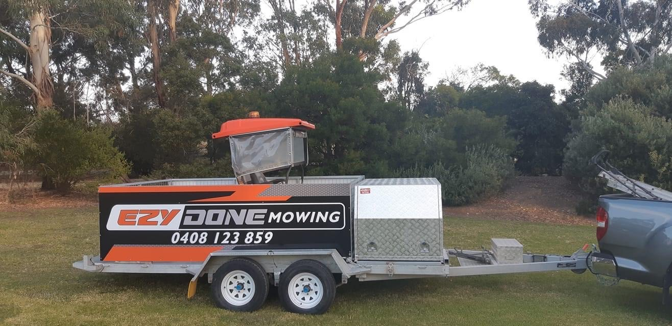 Ezy Done Mowing Trailer Signage