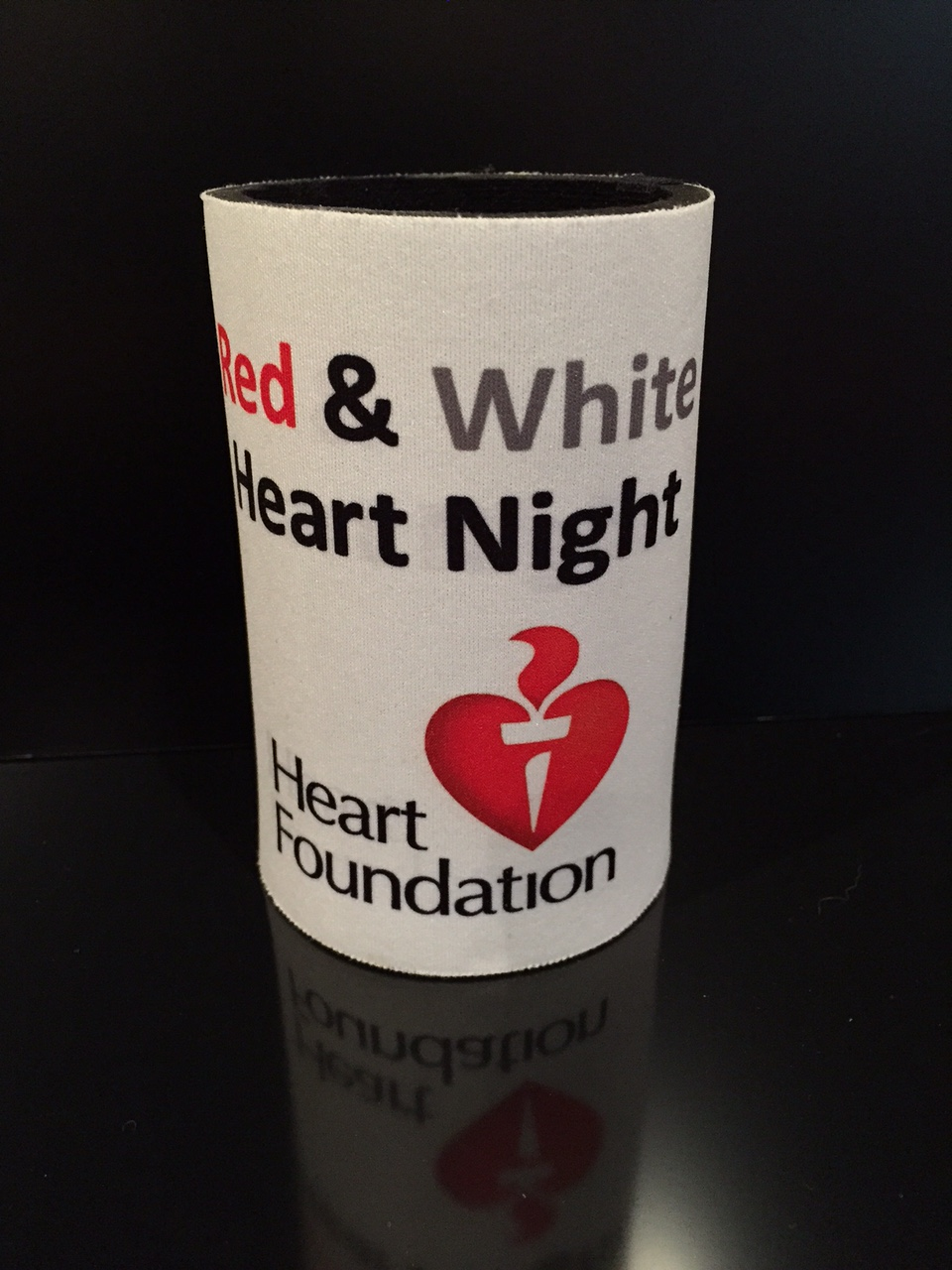 Red & White Heart Night