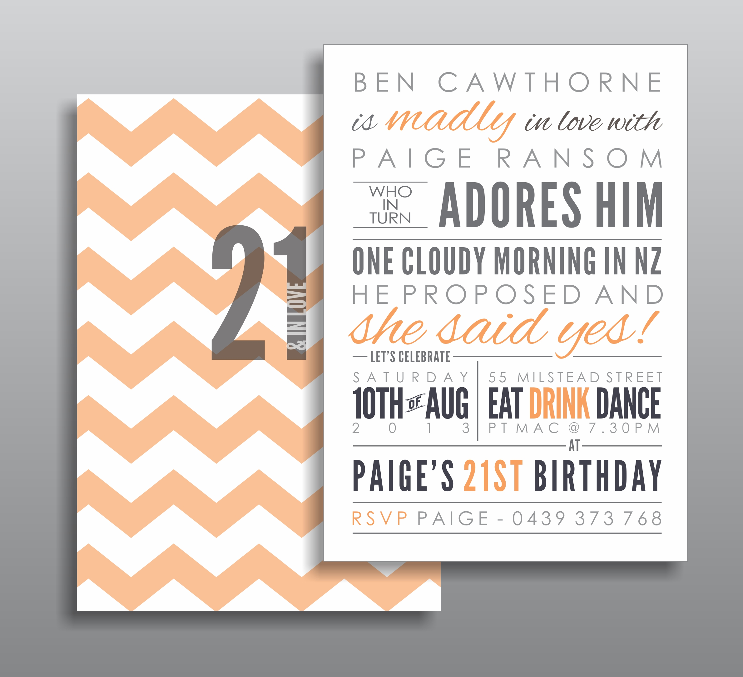 Engagement & Birthday Invitations