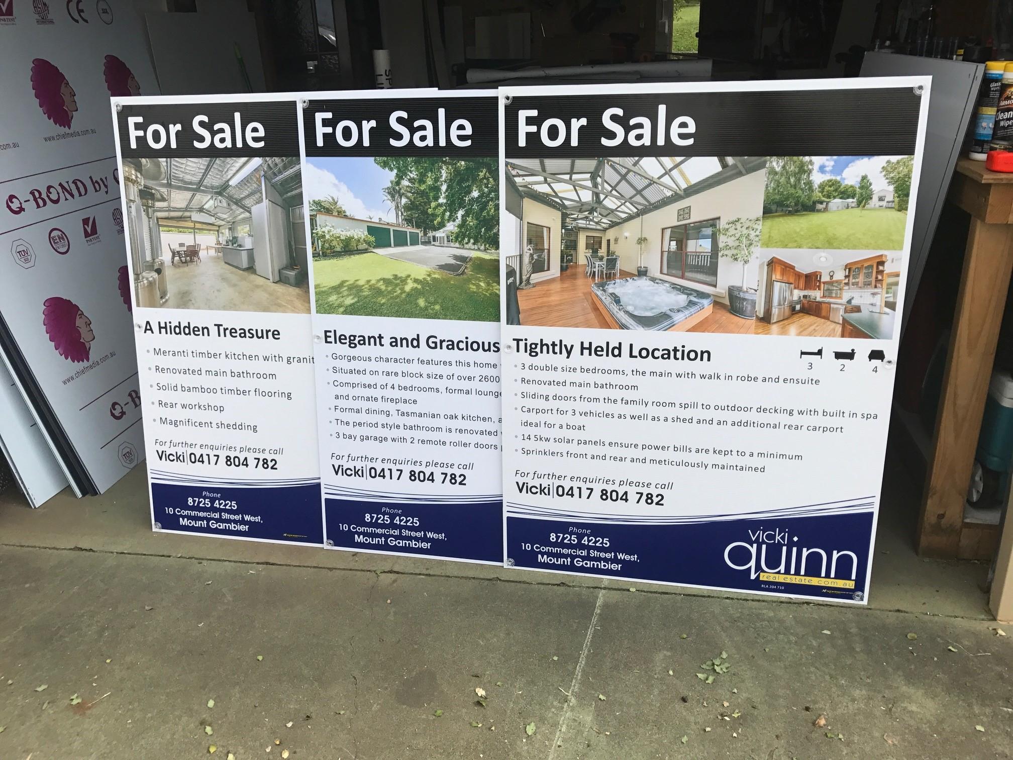 Vicki Quinn Real Estate Corflute Signs