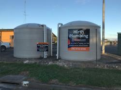 Hirth Plumbing Tank Signage