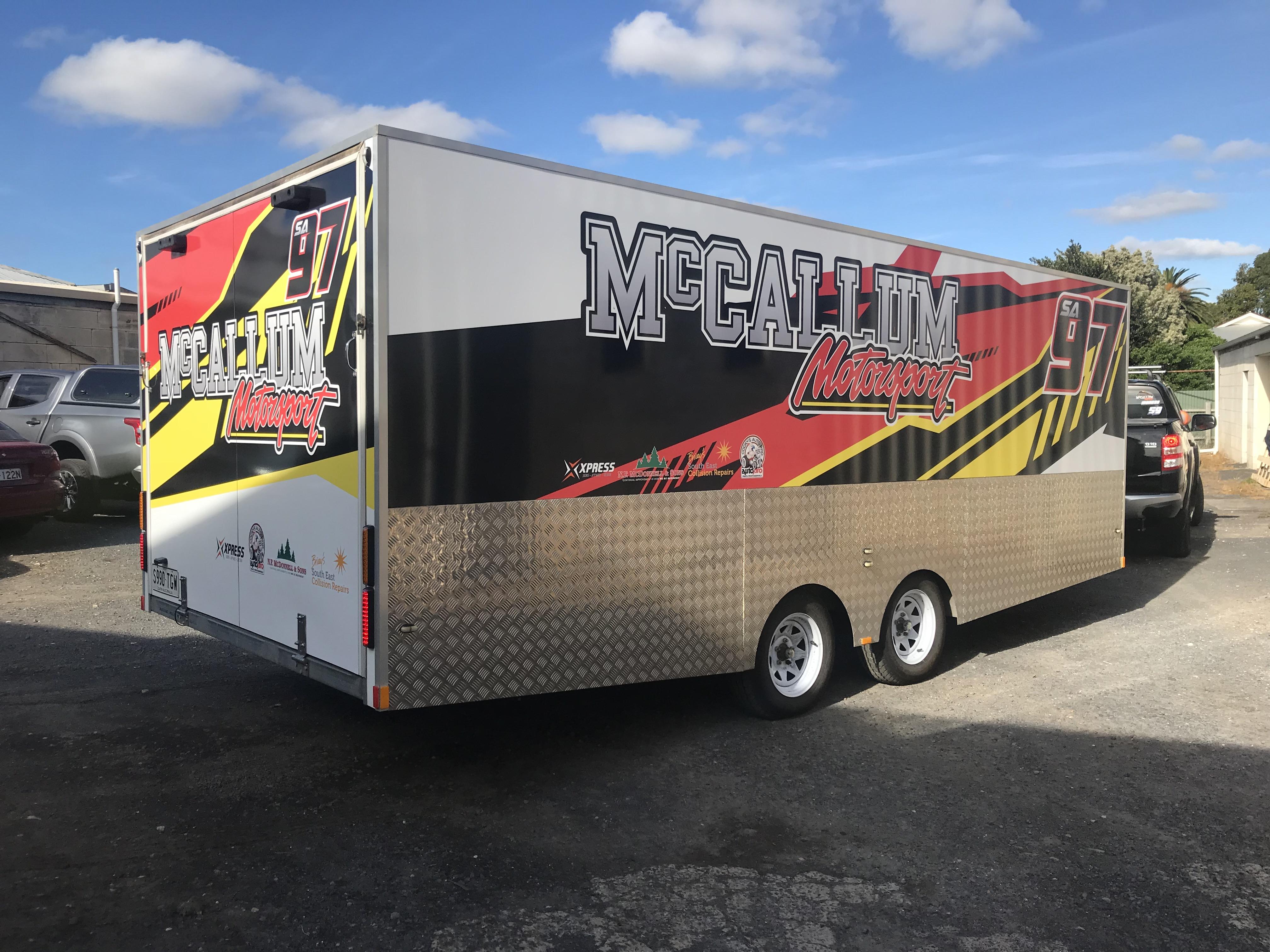 McCallum Motorsport Trailer Signage