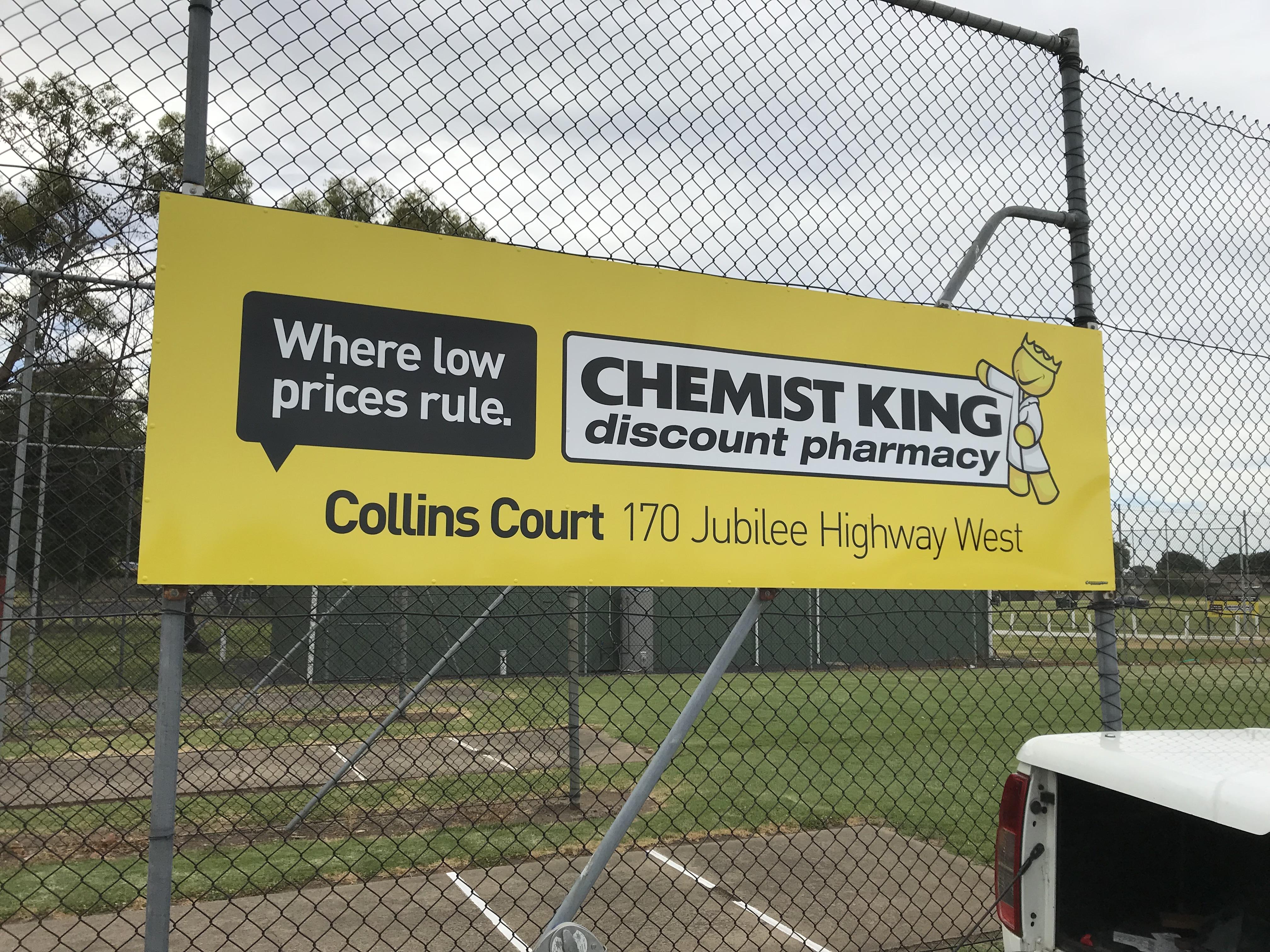 Chemist King Cricket Signage