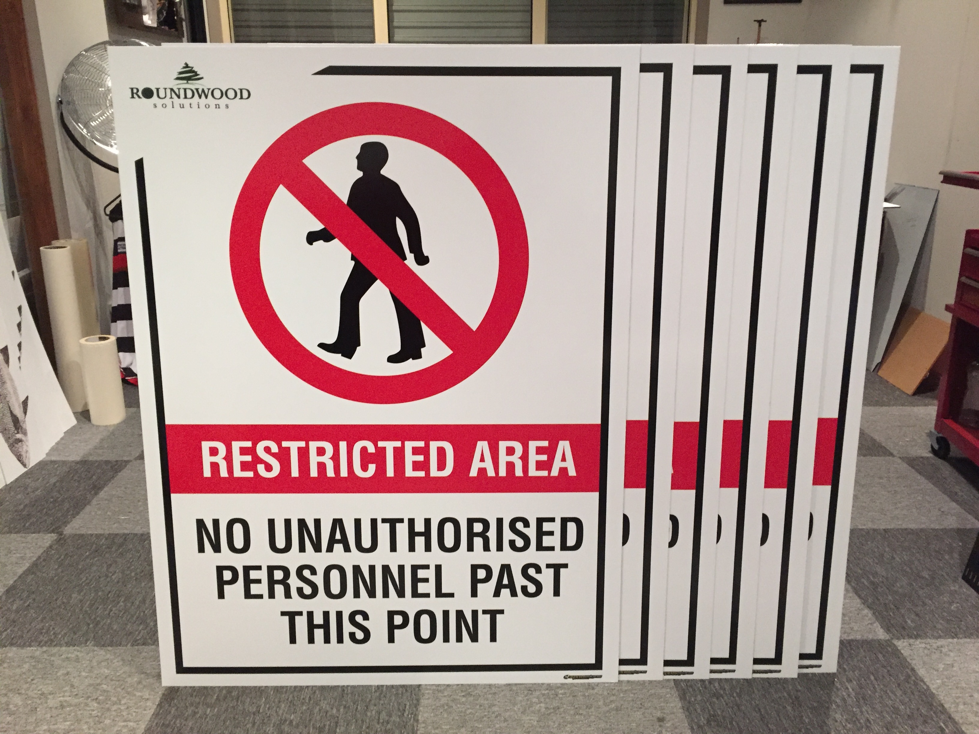Roundwood Solutions No Entry Signs