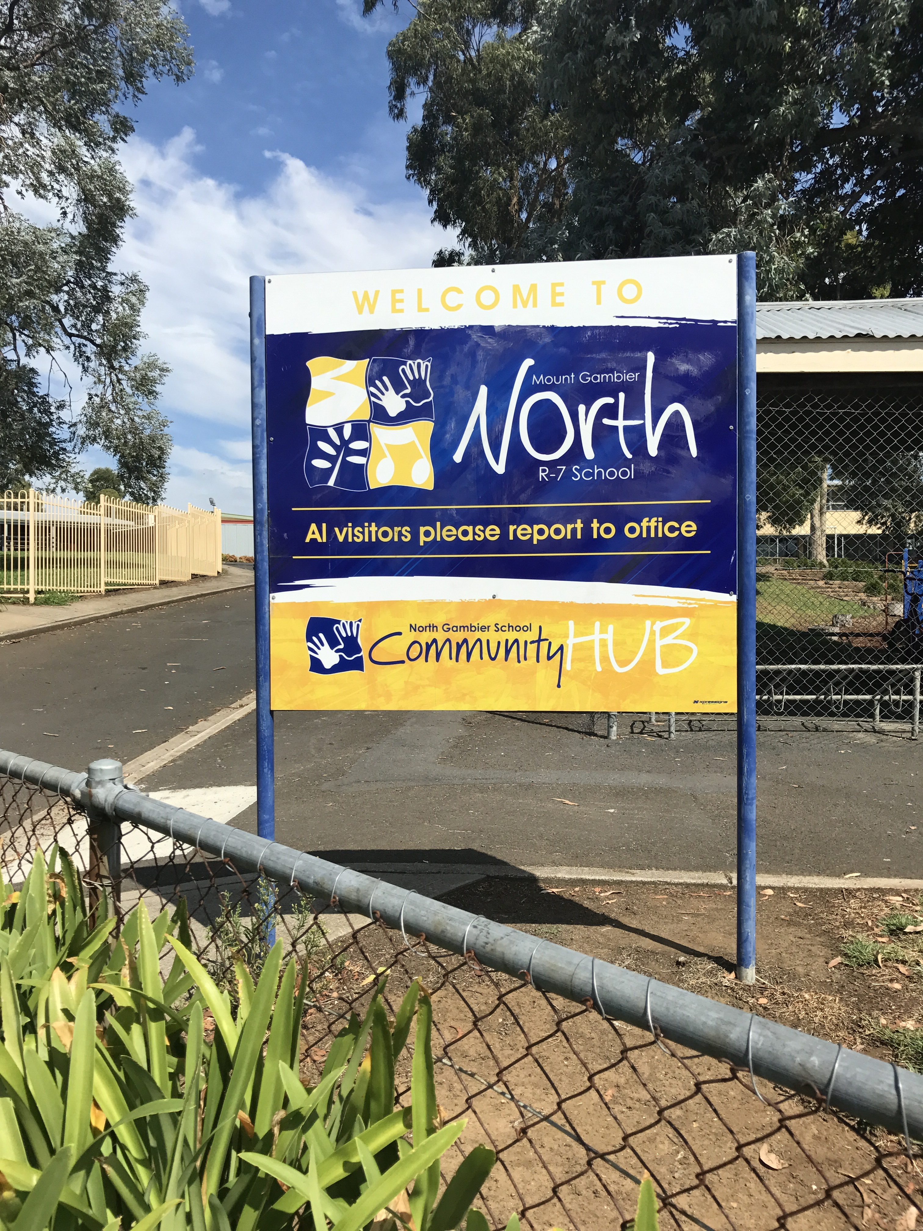 North School Sign