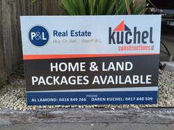 P&L & Kuchel Corflute Signs