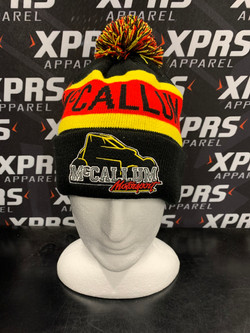 McCallum Motorsport Pom Pom Beanies