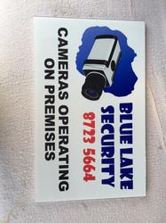 Blue Lake Security Corflutes