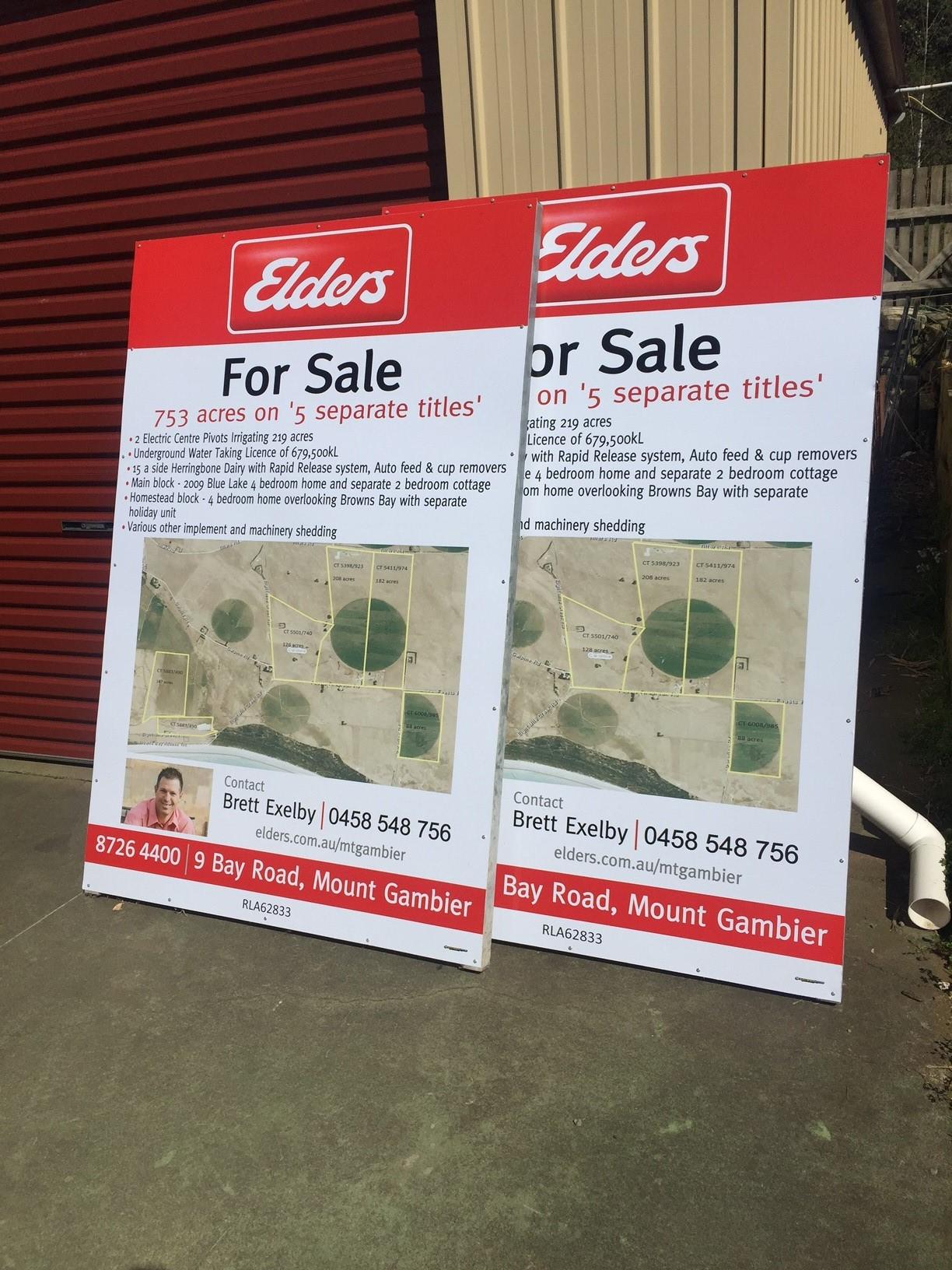 Elders For Sale Signs