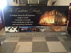The Customs House Netball Club Sign