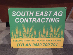 SE Ag Contracting Corflute Signs