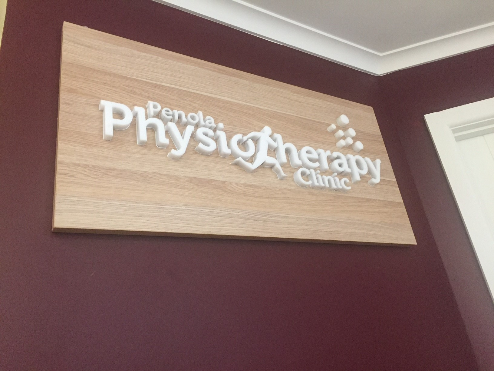 Penola Physiotherapy Clinic Router Cut Acrylic Reception Sign