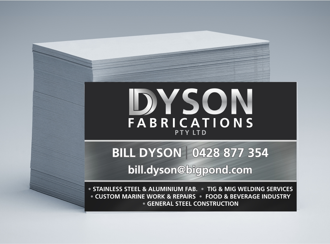 Dyson Fabrications Business Cards