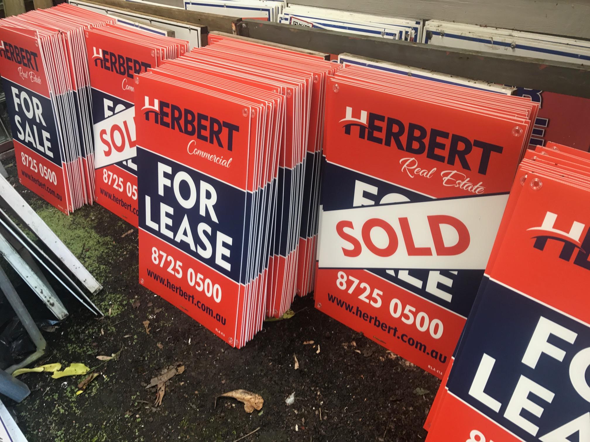 Herbert Real Estate Corflute Signs