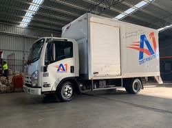 A1 Distribution Isuzu Truck Signage