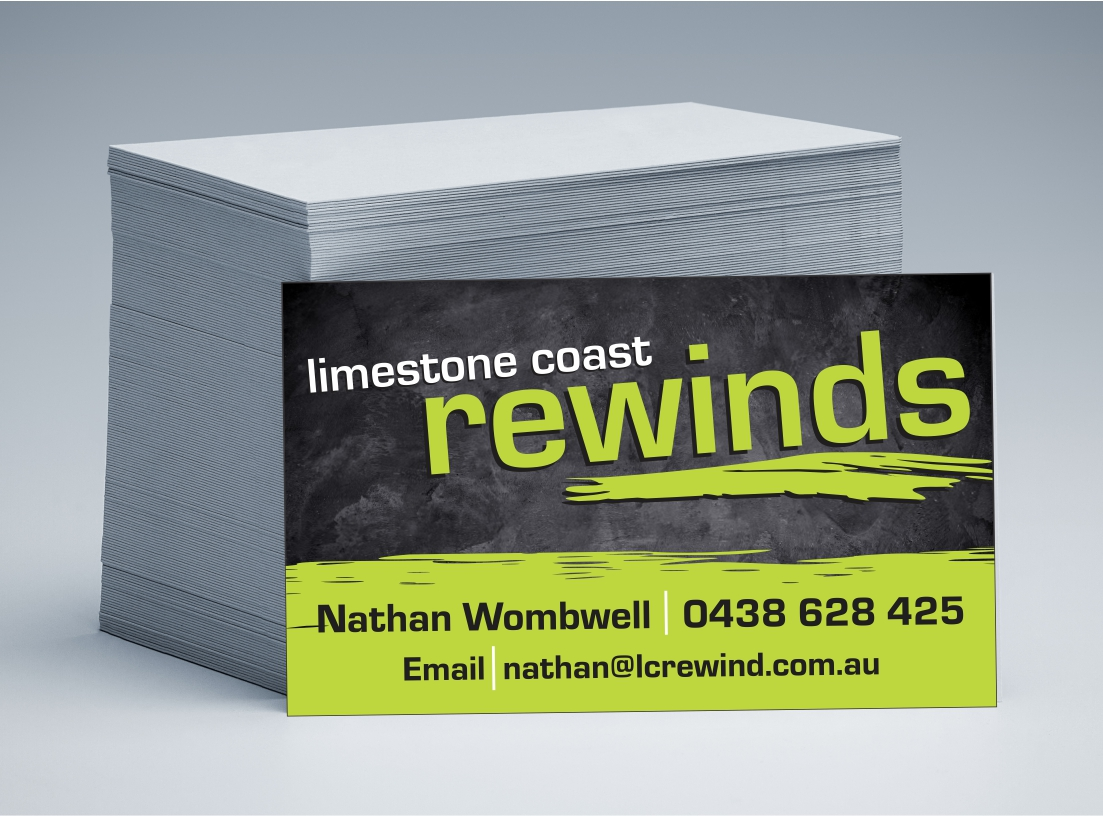 Limestone Coast Rewinds Business Cards