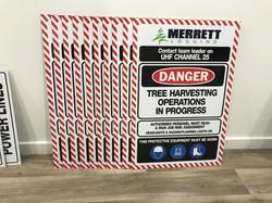 Merrett Logging Danger Signs