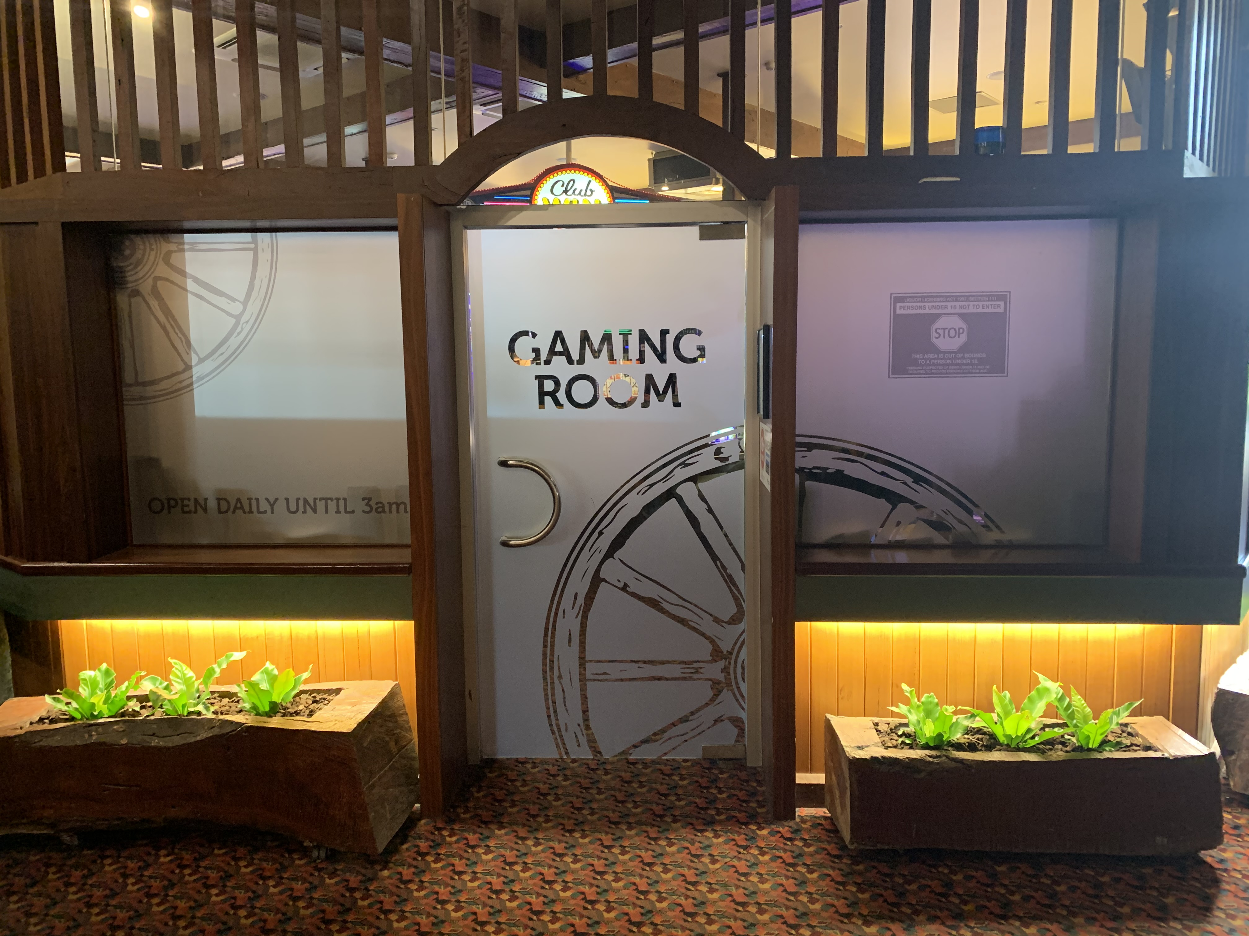 South Eastern Hotel Gaming Room Frosting