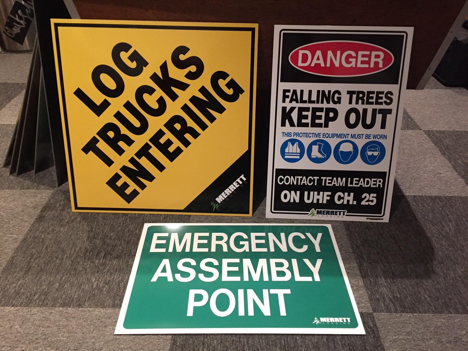 Merrett Logging Signs