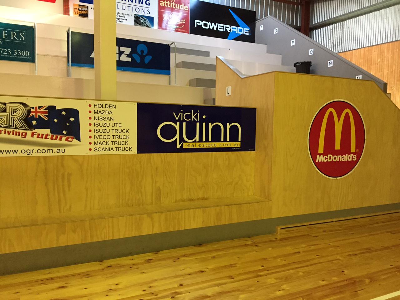 Vicki Quinn Real Estate Stadium Sign