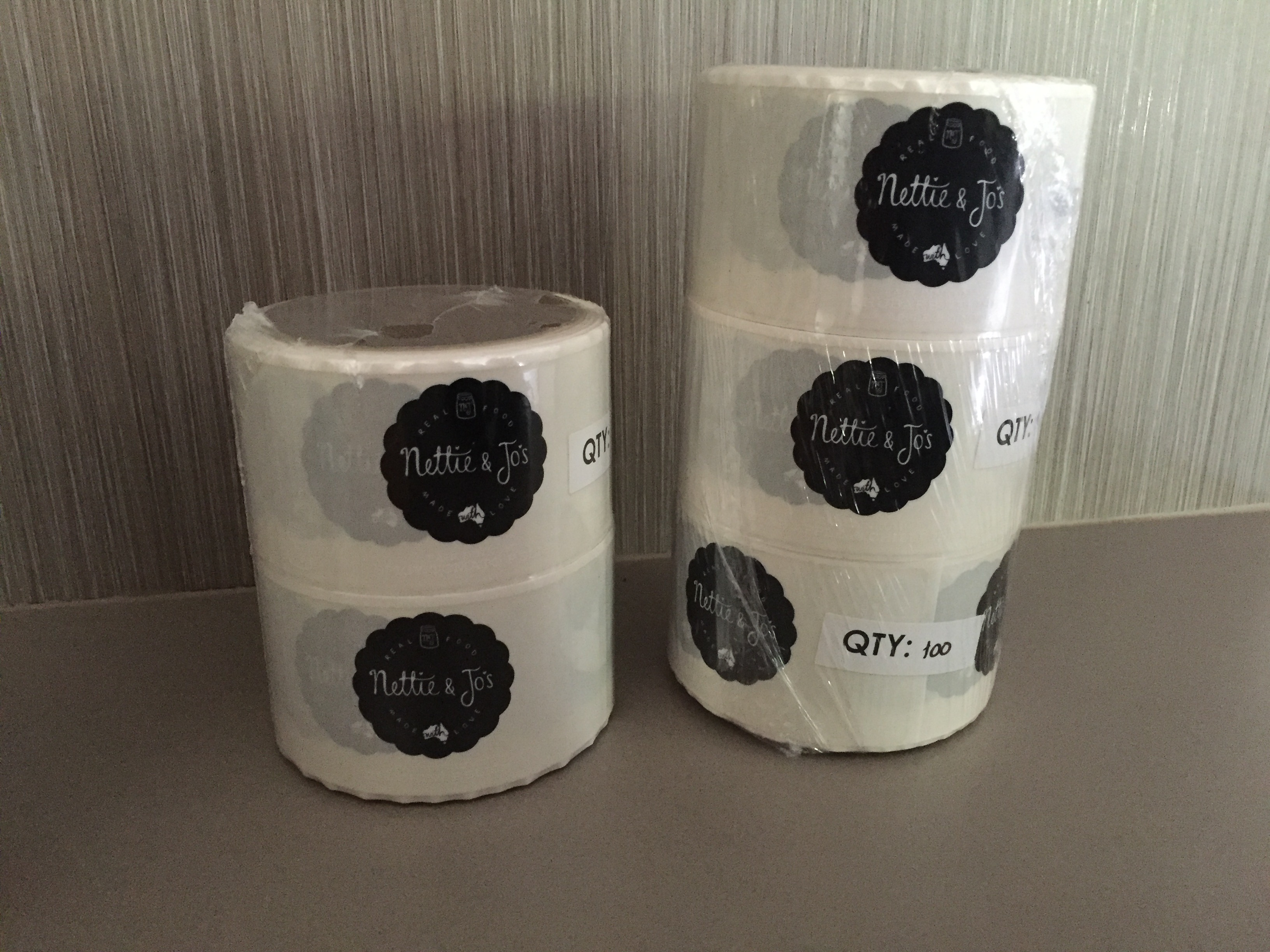 Clear Labels with White Printing