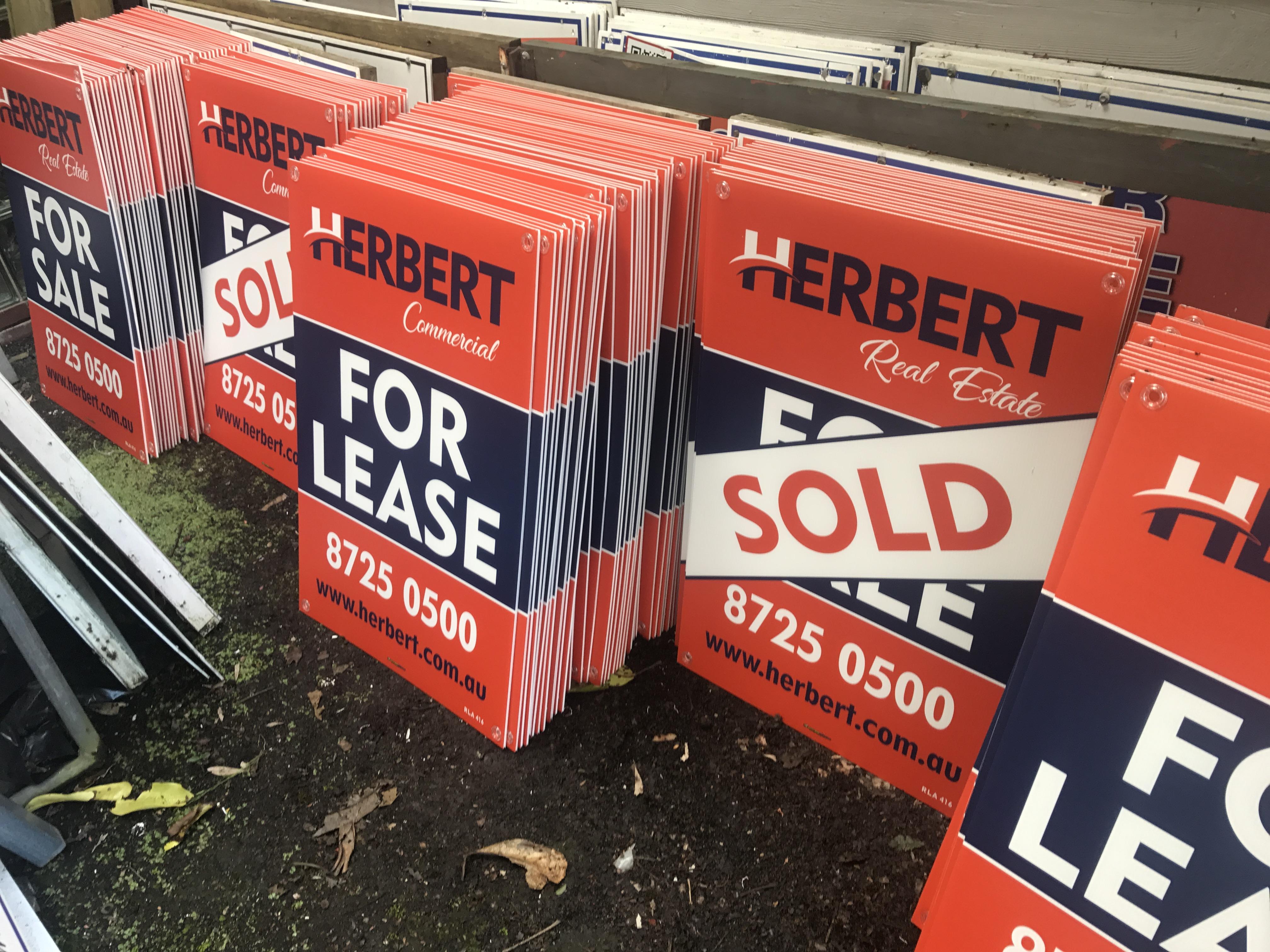 Herbert Real Estate Coflute Signs