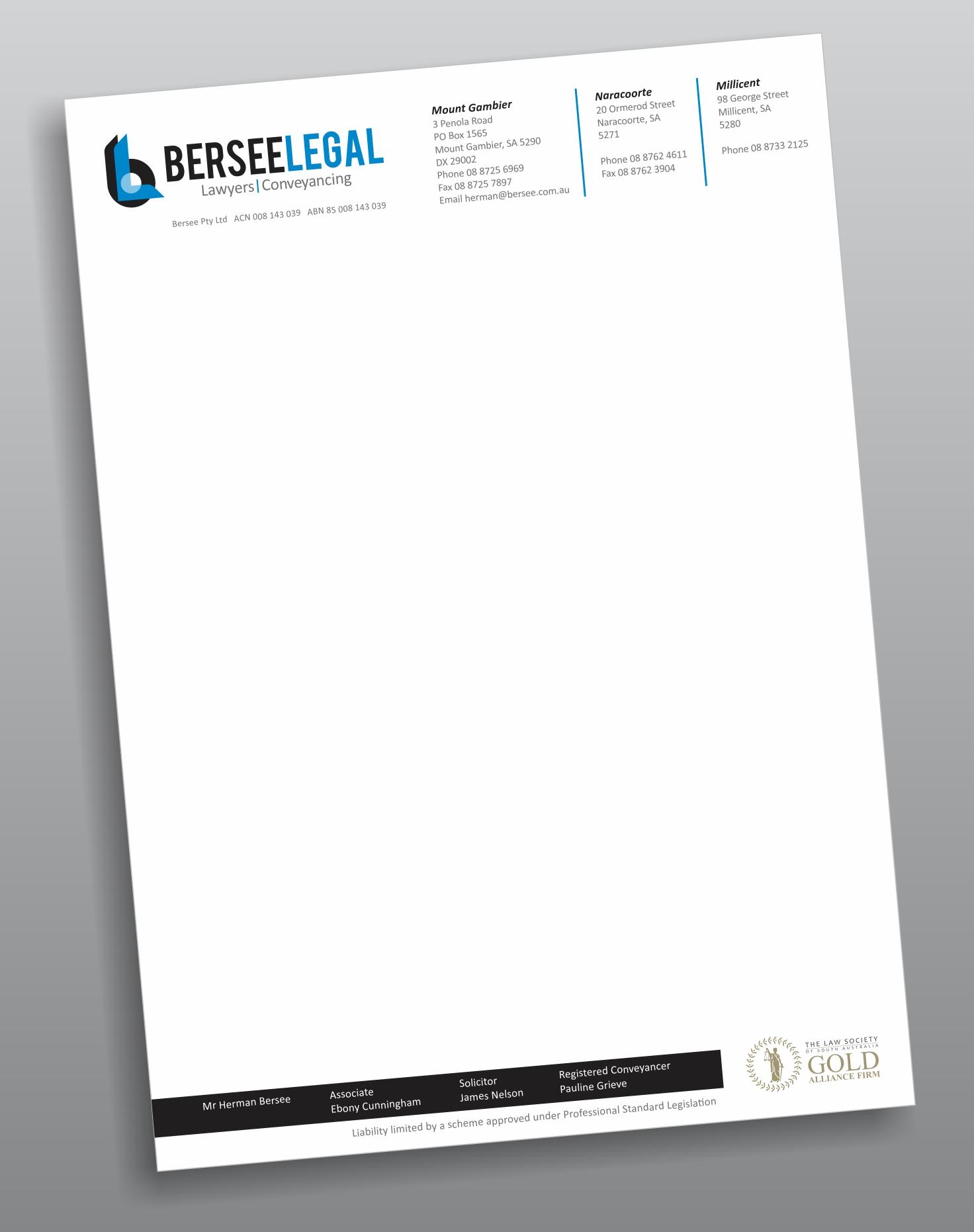 Bersee Legal Letterheads