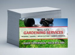 Mil-Lel Mowing Business Cards