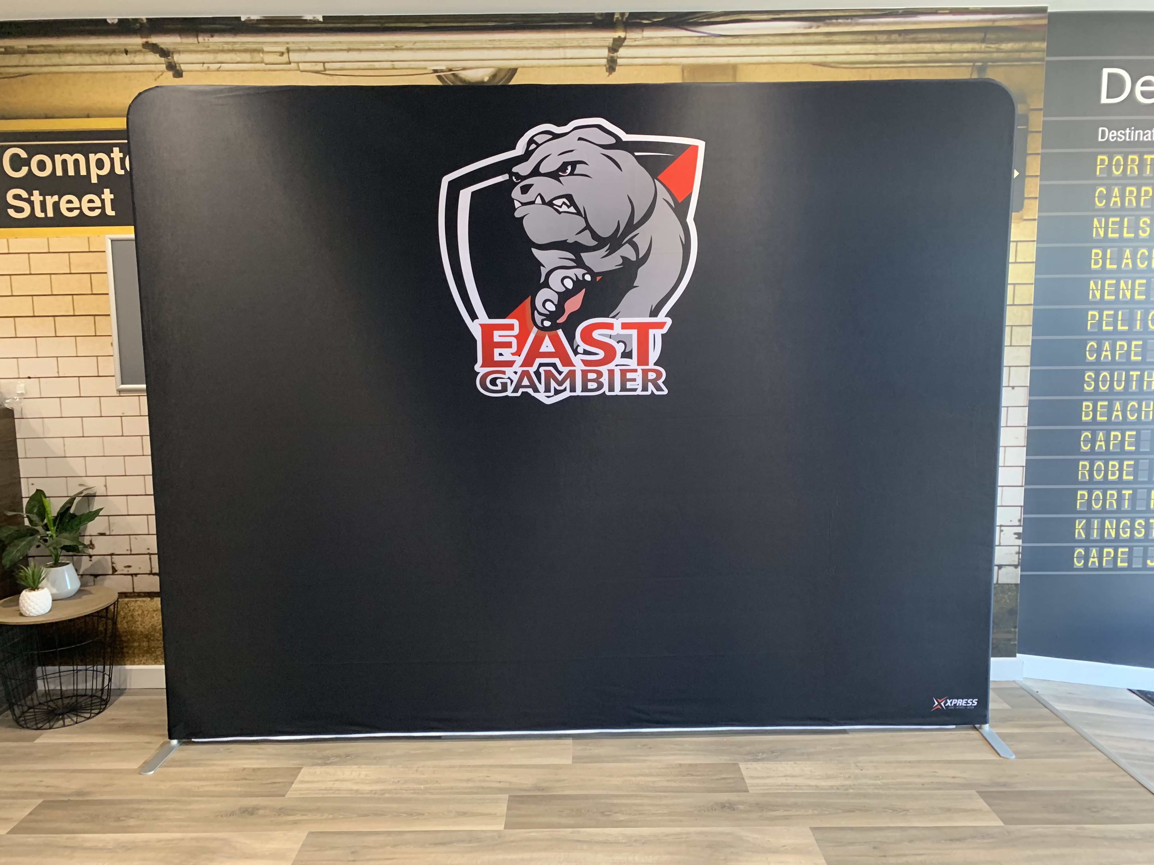 East Gambier FC Double Sided Media Wall.