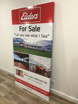 Elders Real Estate Wrap around sign
