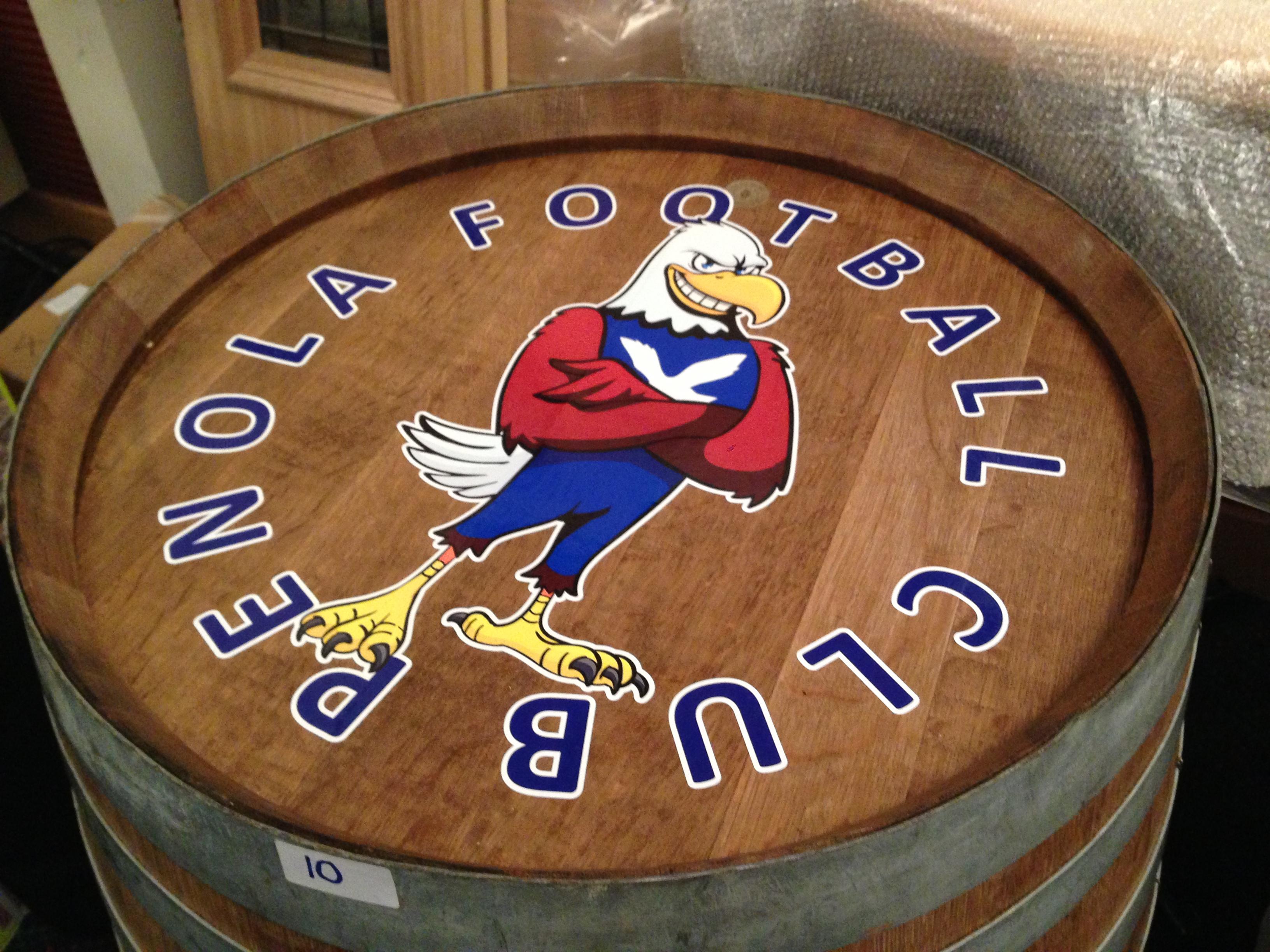 Wine Barrel Signage