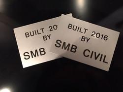 SMB Civil Engraved Plates