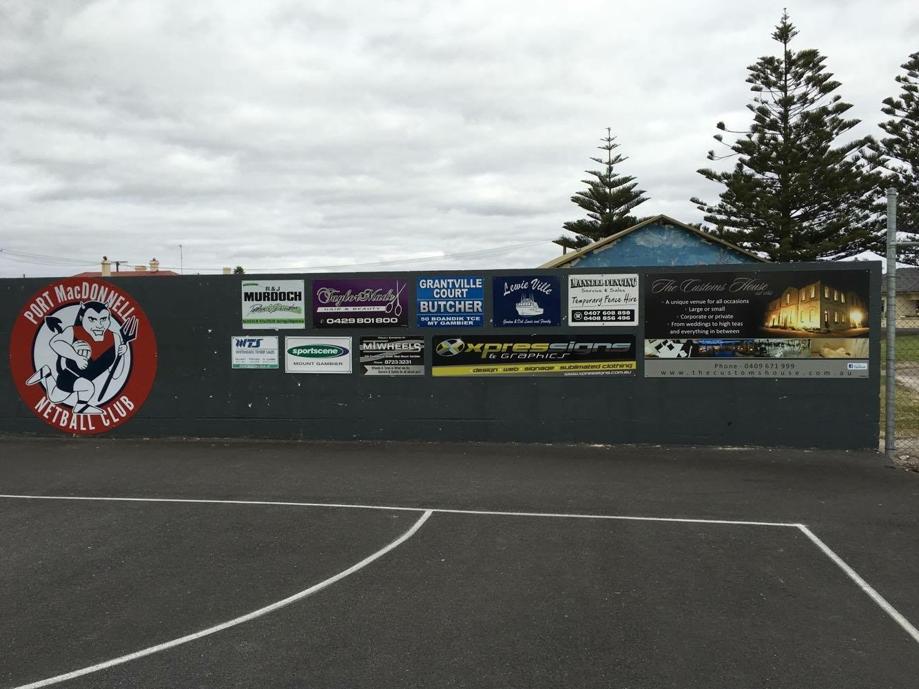 Port MacDonnell Netball Signs