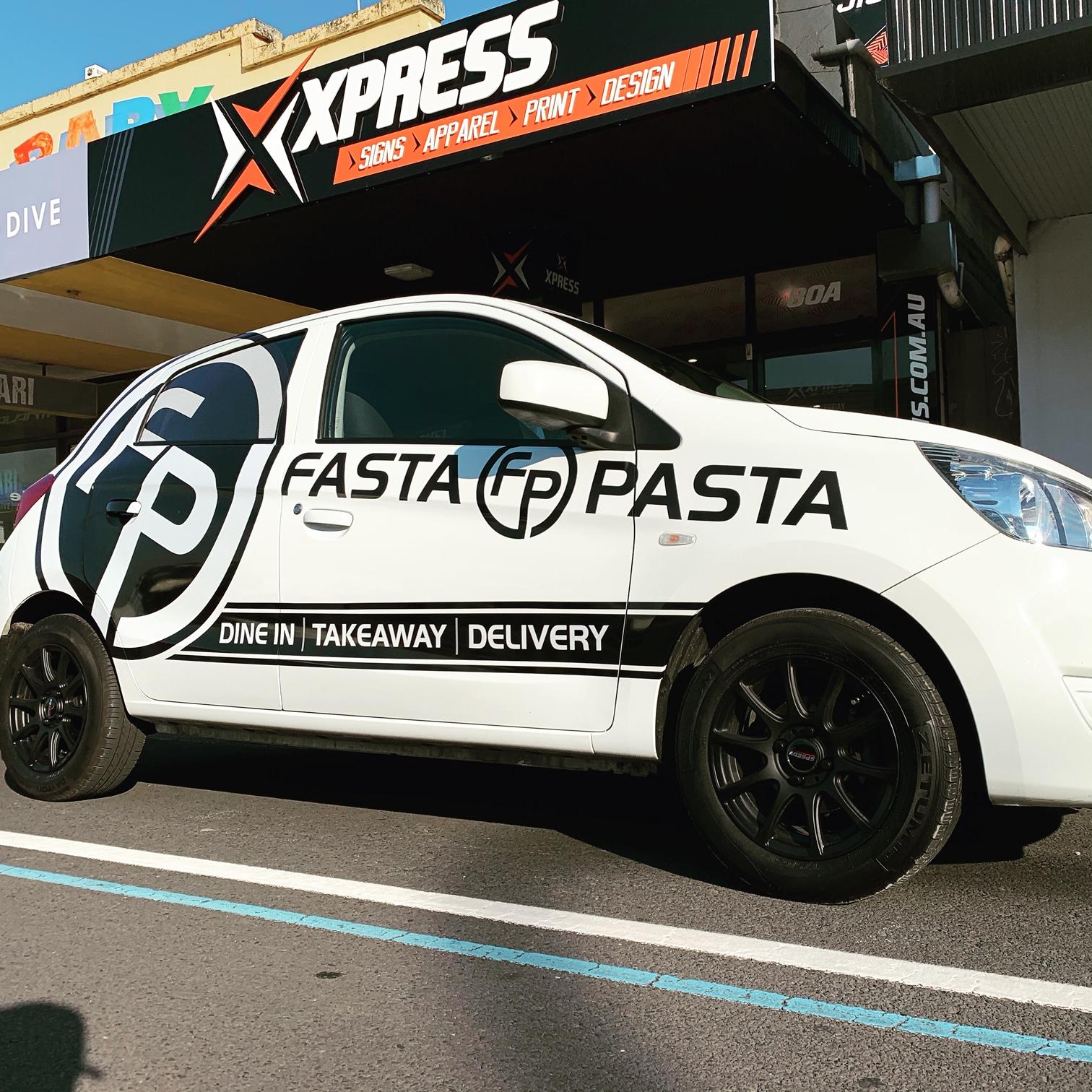 Fasta Pasta Vehicle Signage