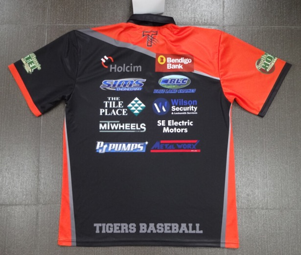 Tigers Baseball Polo Rear