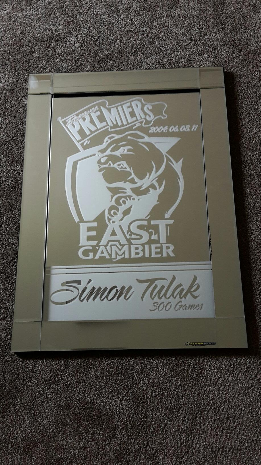 East Gambier Frosted Mirror
