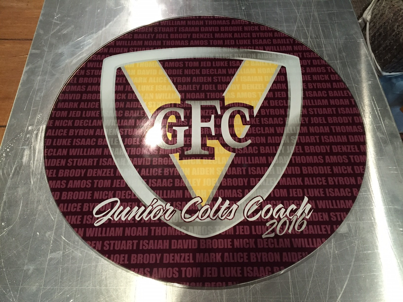 Glencoe FC Wine Barrel Lid