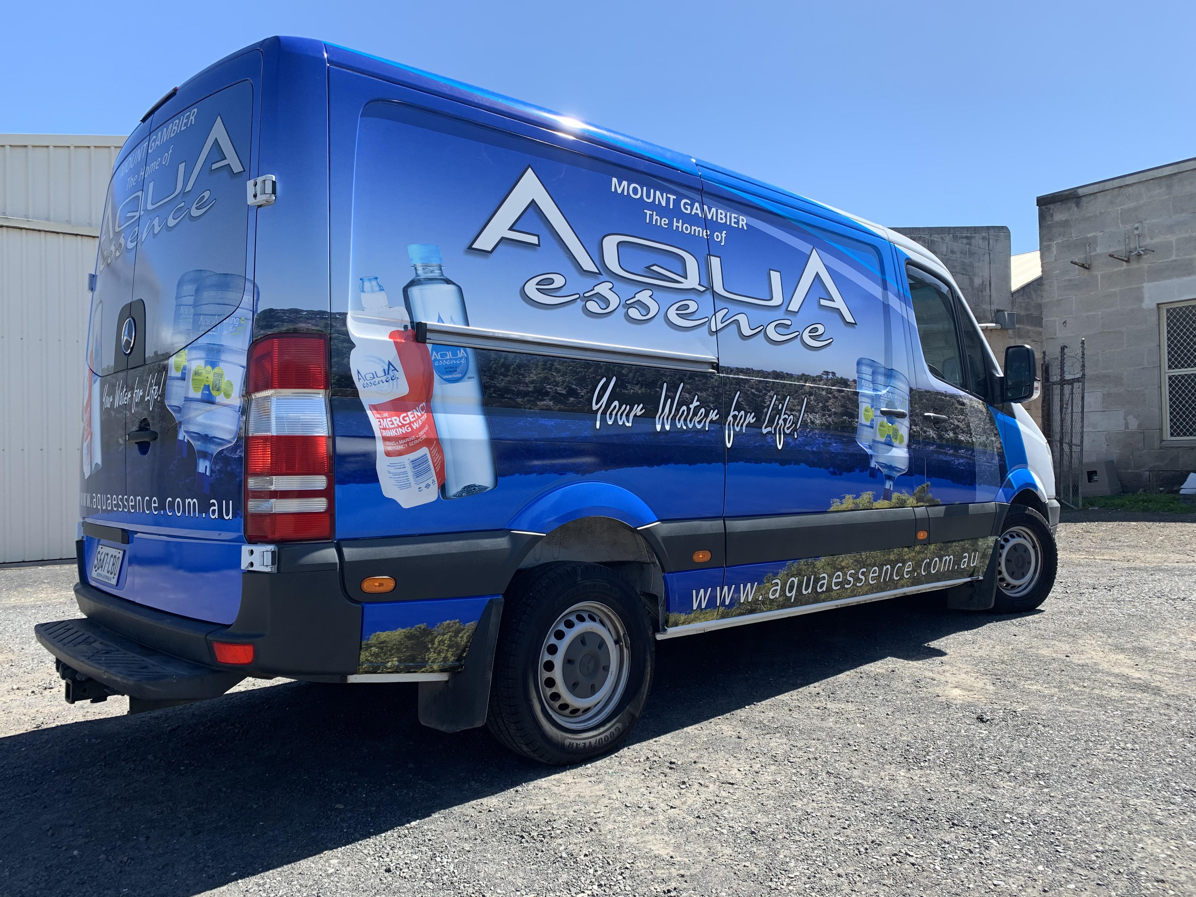 Aqua Essence Van Signage