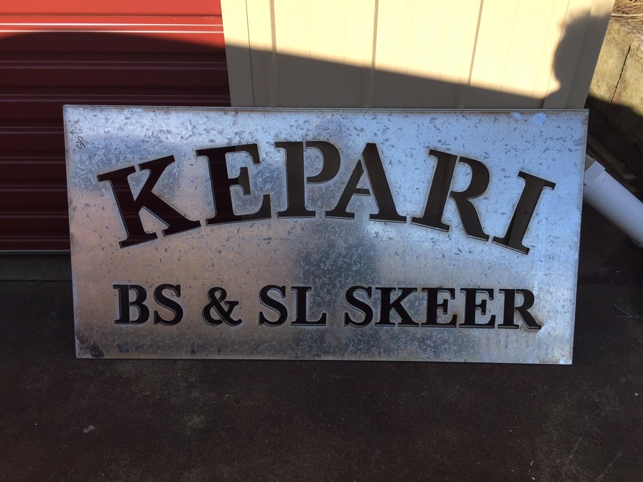 Laser Cut Kepari Gate Sign