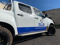 Ellis Concreting Ute Signage